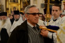 Архиепископ Артемий совершил великую вечерню в кафедральном соборе города Гродно