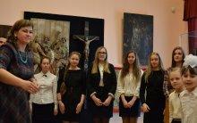 Хор воскресной школы Покровского собора принял участие в открытии выставки в Музее истории и религии