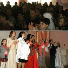 Молодежное братство при Покровском соборе организовало Пасхальное представление в доме-интернате (д. Мурованка)