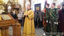Архиепископ Артемий совершил литургию в кафедральном соборе и вручил награды представителям Гродненской пограничной группы
