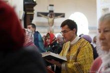 Свято-Покровский кафедральный собор Гродно, литургия, чтец